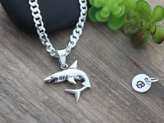Sterling Silver Shark necklace Shark necklace by LifeOfSilver