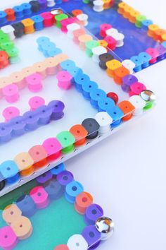 DIY Toy: Perler Bead Mazes | A simple, colorful, easy to make perler bead project for kids that doubles as a design exercise!