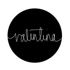 Valentina   ||    ||   Hand-drawn name art by Meg at pinterest.com/meggiemaye.
