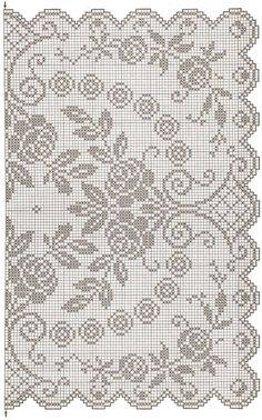 This Pin was discovered by Tat Crochet Patterns Filet, Crochet Doily Diagram, Funny Cross Stitch Patterns, Crochet Doily Patterns, Crochet Doilies, Crochet Cross, Crochet Home, Thread Crochet, Diy Crochet