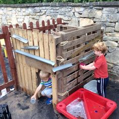 I love the possibilities for co-operative learning that this water fort offers - using language to help problem solving and critical thinking.