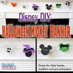 A quick and easy Disney inspired Halloween banner using a personal cutter and a pre-schooler. (Personal cutter not required)