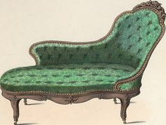 Victorian furniture clip art vintage couch set living for Garde meuble nice