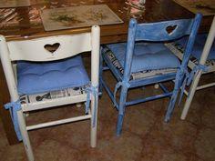 židle ze srdíčky