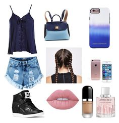"""#1"" by kfdodance ❤ liked on Polyvore featuring Sans Souci, MICHAEL Michael Kors, MCM, Rebecca Minkoff, Lime Crime, Jimmy Choo and Marc Jacobs"