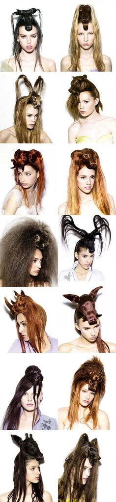 Hair Hats by Japanese designer Nagi Noda... You have got to be kidding me!