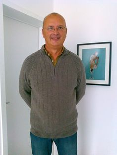 Ravelry: Learn to Knit a Mens Sweater pattern by Staci Perry, This pattern includes links to eight instructional videos to walk you through the tricky parts of working the pattern. Top down, raglan sleeves and zipper installation.