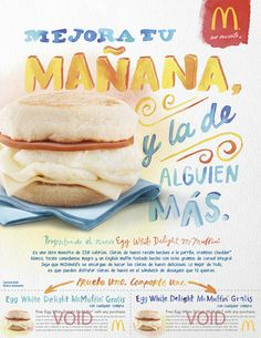 McDonald's Egg White Delight ad by Karen Kurycki, via Behance