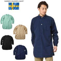 http://item.rakuten.co.jp/auc-waiper/not042506106/ ミリタリーシャツ 新品 スウェーデン軍 グランパシャツ 後染め加工 #ミリタリーセレクトショップWIP #men's #メンズ #MILITARY #SHIRT #シャツ #カジュアルシャツ #長袖 #longsleev