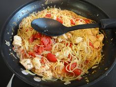 Italian Skillet Chicken:  Made in a single skillet with things you may all ready have in the pantry.