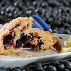 Brown Sugar Blueberry Muffin Tops in Recipes on The Food Channel®