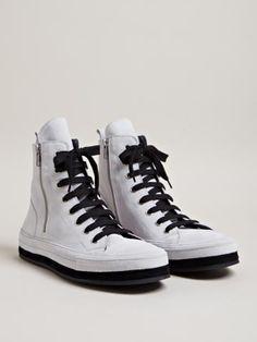 Ann Demeulemeester Men's Nubuck Hi-top Sneakers