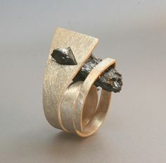 "Ring | Sofia Costa Gomes . ""Nature"". silver, white quartz with hematite"
