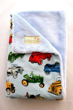 BABY BOY 50's Car Blanket on Etsy, $40.00