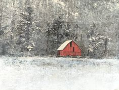 A Sheltered Place, encaustic landscape painting by Lee Anne LaForge | Effusion Art Gallery + Glass Studio, Invermere BC Bear Paintings, Cute Paintings, Nature Paintings, Landscape Paintings, Lake Painting, Painting Snow, Spring Landscape, Encaustic Art, Canadian Art