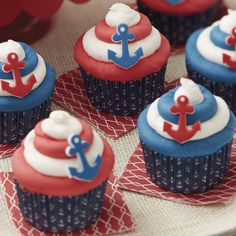 1000+ ideas about Anchor Cupcakes on Pinterest | Anchor Cakes, Cupcake ...