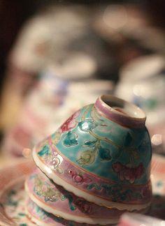 Peranakan Porcelain tea cups