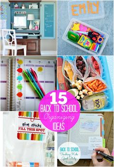 15 Back to School Organization Ideas!! -- Tatertots and Jello this I have to look and at least try to do