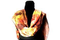 evening shawl in pure silk pashmina multicolor head bandana