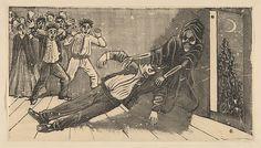 José Guadalupe Posada (Mexican, 1851-1913). The apparation of the ghost of don Juan Manuel to Pachita la Alfajorera, ca 1893. The Metropolitan Museum of Art, New York. Gift of Jean Charlot, 1930 (30.82.27)