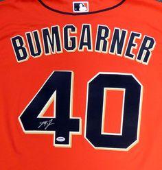 San Francisco Giants Madison Bumgarner Autographed Orange Majestic Jersey Size XL PSA/DNA