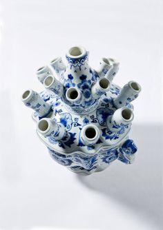 #klassieke #tulpen #vaas #tulpenvaas origineel #delfts #blauw