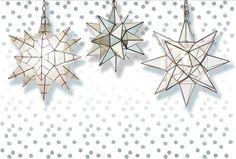 Star of wonder, star of light. Our Worlds Away Moravian Star Chandeliers will keep you full of twinkle all year long. #deckthehalls #polkadotpeacock #wethreekings