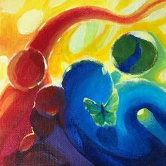 Original painting Butterfly wildlife Artwork inspired Art Deco listed by artist #ArtDeco
