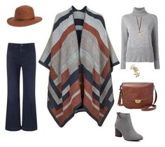 """""""cape"""" by yelena-lorich ❤ liked on Polyvore featuring Topshop, FOSSIL, AG Adriano Goldschmied, Rusty, PHILO-SOFIE and Robert Lee Morris"""