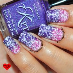 nails.quenalbertini: Heartnat   Polished by KPT Being in the Pink & MoYou London Pro 14 XL