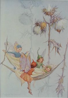 Fairy Thistledown Fairy Antique Print Margaret Tarrant 1936 Childs Nursery RARE | eBay