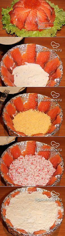 """Слоеный салат """"В новый год с новой шубой"""" - рецепт пошаговый с фото"""