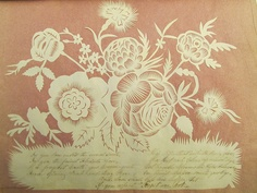 Flowers of Love. From an album of hand-made late 19th century Valentines from Johns Hopkins Rare Books, Manuscripts & Archives.