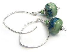 Lampwork Glass Earrings - New Rain