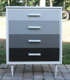 mid century ombre dresser