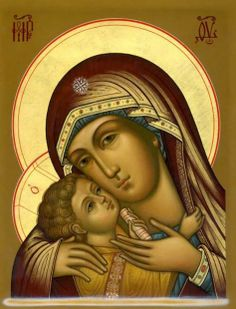 Madonna from Okon patterns Religious Pictures, Religious Icons, Religious Art, Blessed Mother Mary, Blessed Virgin Mary, Mama Mary, Religious Paintings, Artwork For Home, Mary And Jesus