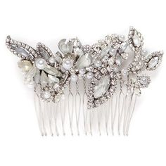 Erickson Beamon Swarovski crystal glass pearl hair comb