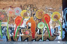 Image result for wheatpaste  flowers