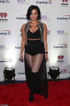 Beauty: Singer Demi Lovato, seen here in December, says she feels most beautiful when she'...