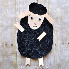 Baa Baa Black Sheep Craft | I Heart Crafty Things