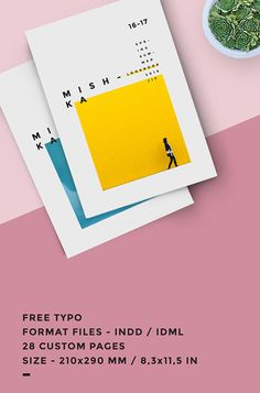 Fashion lookbook template, minimal style.