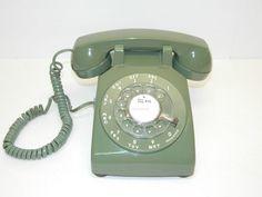 Vintage Rotary Dial Phone Western Electric Retro Decor Avocado Green Telephone
