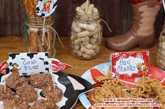 Red vintage cowboy Birthday Party Ideas   Photo 5 of 9   Catch My Party