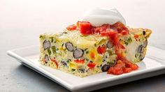 A simple Mexican Breakfast Casserole - great for dinner too!