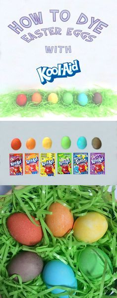 Using Kool Aid to dye Easter Eggs is cheaper than an egg dyeing kit. Here's how it's done!