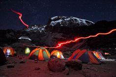 National Geographic Traveler Photo Contest 2013 - Barranco Camp at night, Kilimanjaro Monte Kilimanjaro, Go Camping, Outdoor Camping, Camping Ideas, Camping Hacks, Camping Store, Camping Outdoors, National Geographic Photo Contest, National Geographic Photographers