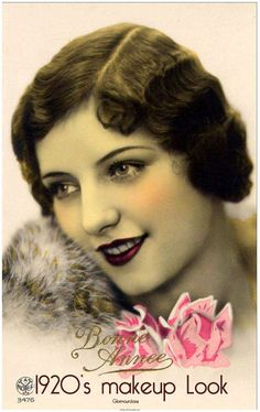 20's makeup: The messy elixir blushes of past years were replaced by creams, powders, liquids, and rouge papers. During the middle of the decade, mascara was available in cake, tube, wax, and liquid form and applied with a brush. There were even waterproof formulations available!
