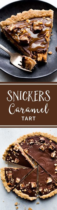 Snickers Caramel Tart With Salted Caramel, Peanut Crust, Salty Peanuts, And Chocolate Peanut Butter Topping Recipe On Easy Desserts, Delicious Desserts, Dessert Recipes, Yummy Food, Dinner Recipes, Dessert Ideas, Chocolate Peanut Butter, Chocolate Desserts, Chocolate Caramel Tart