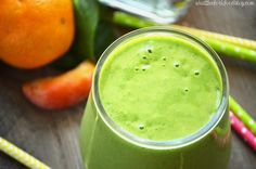 Peach Green Smoothie from What The Fork Food Blog