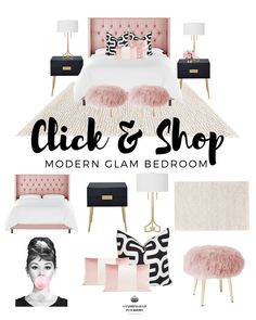 Shop this Look - Modern Glam Bedroom - New Ideas